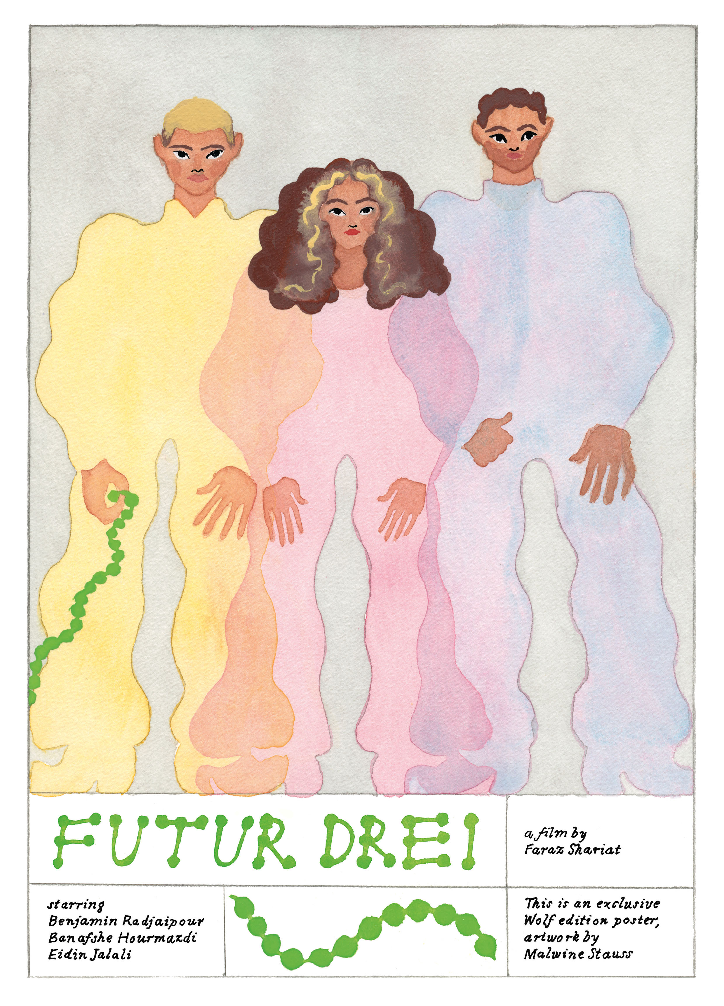 "Malwine Stauss Poster for film ""Futur Drei"" for Wolf Kino Berlin"